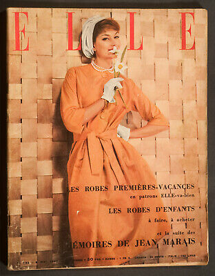 'elle' French Vintage Magazine Holiday Issue 6 May 1957