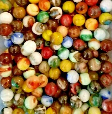 12 Marbles 5/8 In. Jabo Classics Mix 2 - Glass Marbles and Great UV Glow