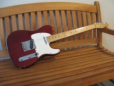 FENDER TELECASTER GUITAR, 1991, American Made, Maple Neck, W/Gig Bag on