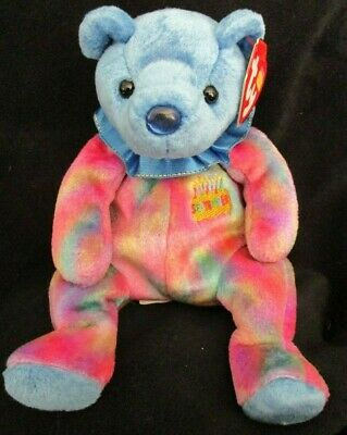 Ty Beanie Baby September Sapphire Birthstone Teddy Happy Birthday Bear a34c9f1459b2