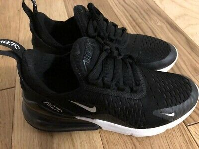 newest 8a925 c95f1 NIKE AIR MAX 270 Trainers Black Size 3 Kids Junior
