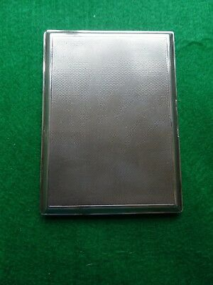 GOLDSMITHS AND SILVERSMITHS Co Ltd SILVER/GILT LARGE CARD/CIGARETTE CASE 186Gram