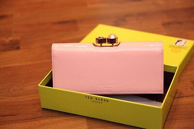 89fb08f0830 TED BAKER CECILIE Baby Pink Pearl bobble leather matinee purse BNWT ...