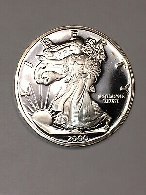 2000 The Dawn of A New Millennium 1 Troy oz .999 Fine Silver Round In Capsule