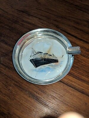 Sterling Silver ashtray With Picrure Of Queen Mary