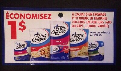 Lot of 20 x 1.00$ P'tit Quebec Products ANY Coupons Canada