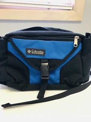 629423c6233a71 Columbia Unisex Fanny Pack Bag Waist Belt Belted Travel Hiking Blue Hip  Pouch