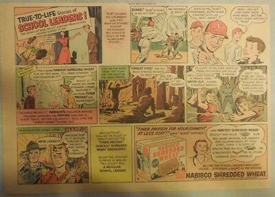 Nabisco Cereal Ad:True To Life School Leaders ! Shredded Wheats 1930's-1950's