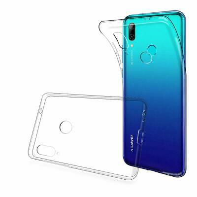 Clear TPU Soft Silicone Gel Case Cover For Huawei P Smart 2019 + Tempered Glass