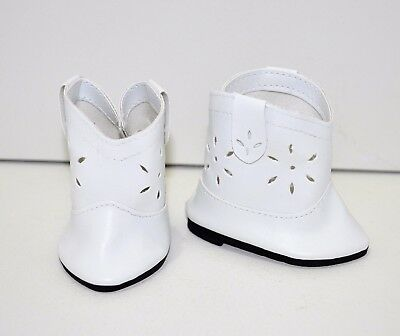 Our Generation American Girl Gotz 18 Inch Dolls Clothes Shoes White Cowboy Boots