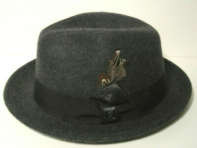 STACY ADAMS MENS WOOL Fedora Hat GREY LARGE -  23.59  81630b5e7acf