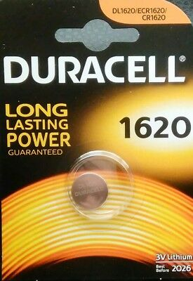 1 X Duracell CR1620 3V Lithium Button Battery Coin Cell DL1620 FREE P&P UK
