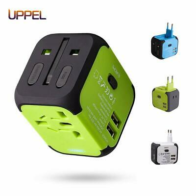 Uppel Travel Adapter Dual USB All-in-one Worldwide Travel Chargers Adapter