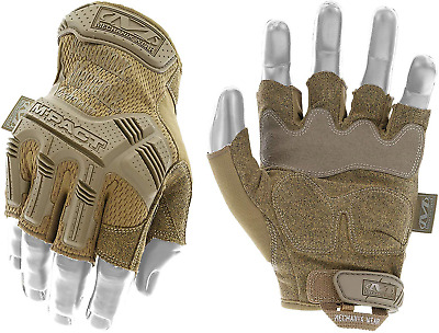 Mechanix Wear - M-Pact Fingerless Coyote Gloves X-Large, Brown
