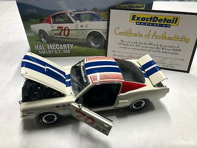 NEW- 1966 Shelby GT350 Vintage Race Car Replica by EXACT DETAIL - 1 of 996