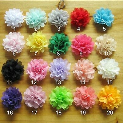Chiffon Flower Hair Clips Baby Toddler Girls Kids Newborn Infant Flower Hair