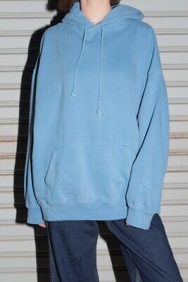 2816e18693d Brandy Melville soft oversize bright blue Christy Hoodie sweatshirt NWT sz M