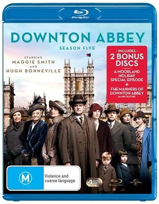 Downton Abbey : Season 5 (Blu-ray, 4-Disc Set) NEW