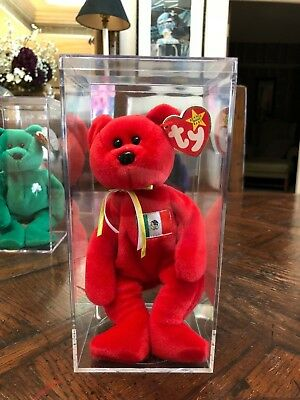 Ty Beanie Babies Collection - 1999 Osito Bear in Case - MINT