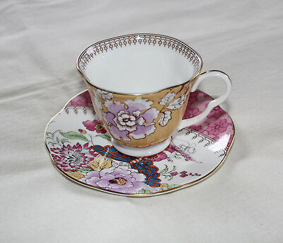 Wedgwood Butterfly Bloom Bone China Yellow Design Teacup & Saucer