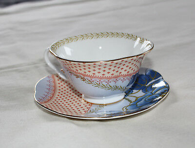 Wedgwood Butterfly Bloom Bone China Blue Design Teacup & Saucer