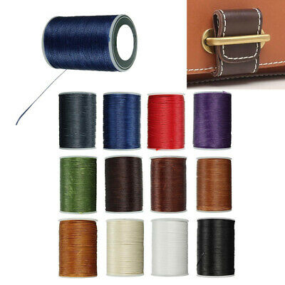 0.8mm*78m Leather Craft Sewing Hand Round Waxed Wax String Thread Repair Cord