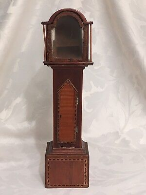 Victorian Pocket Watch Stand Grandfather - Long-Case  - Marquetry Inlaid -