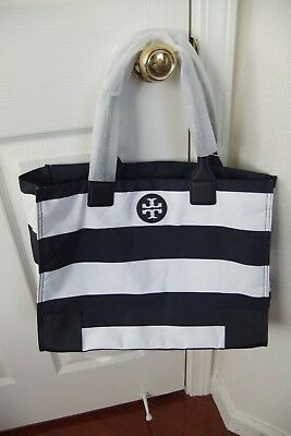 5c4a788727f AUTH TORY BURCH Ella Packable Tote in Navy Bar Stripe NWT -  176.99 ...