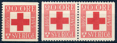 Sweden 1945, 80th anniv of the sw. Red Cross, cpl set incl. booklet par, MNH