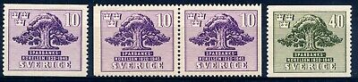 Sweden, 1945 Savings Bank´s Movement, cpl. set incl. booklet pair, MNH
