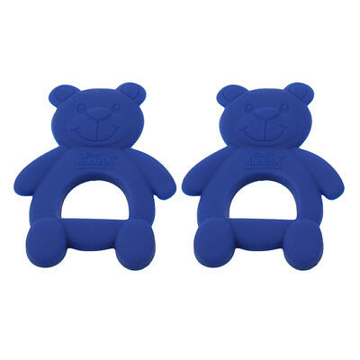 Bear Shape Safety Teether Molar Gloves For Baby Kid Eat Fingers Soft Silicone RE