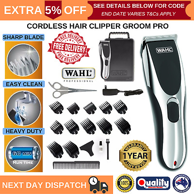 Wahl Cordless Rechargeable Hair Clipper Trimmer Shaver Professional Grooming Set