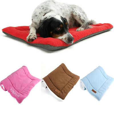 Large warm soft mat pet kennel dog mat cat bed washable candy color square nest