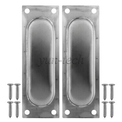 Flush Door Handle Pull Grab for Sliding Barn Door Hardware with 8 Mount Screws