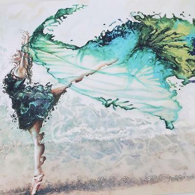 Hand Painted Modern Abstract Palette Ballet Dancer Oil Painting On Canvas LE