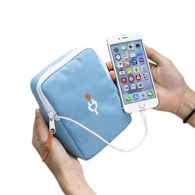 Portable Travel Digital USB Cable Earphone Storage Organizer Bag Case Bag LE