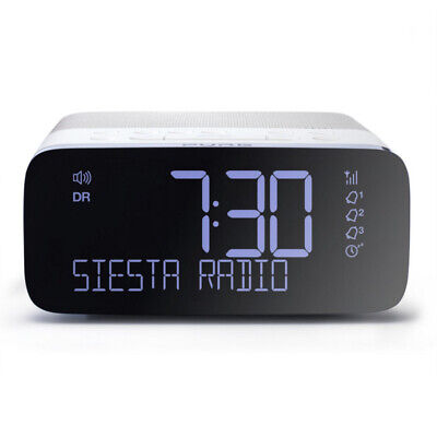 Pure Siesta Rise DAB Alarm Clock Digital Radio With FM and USB