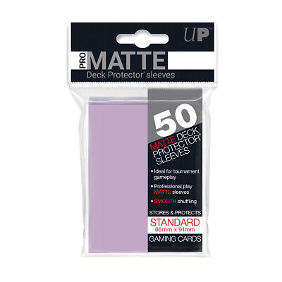 Ultra PRO Pro-Matte Deck Protector Sleeves LILAC Standard Card 50ct 66 x 91mm