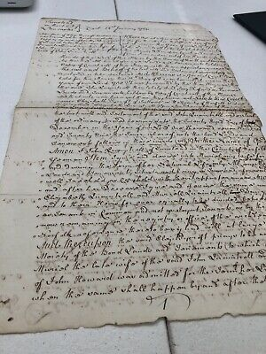 1766 Document About A Court Provision From Tunstead In Lancashire