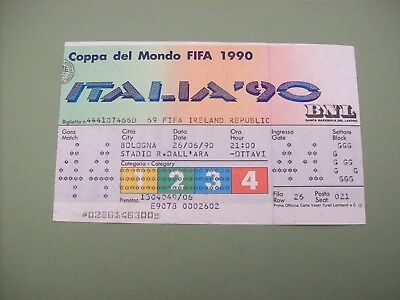 TICKET 1990 WORLD Cup England v Egypt at Cagliari 21/6/90