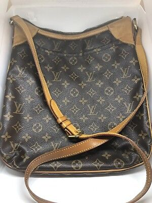 4c6593c4c8c7 Louis Vuitton Monogram Canvas Odeon Mm Crossbody Handbag Purse M56389 Orig  Owner