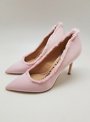 8b6e8185d758 Sam Edelman Women s Halan Light Pink Satin Pump Shoe Size 9 High Heels Dress
