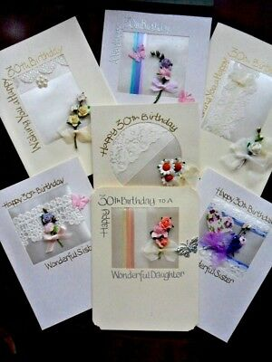Luxury Hand Made 30th Birthday Cards Open Sister Daughter