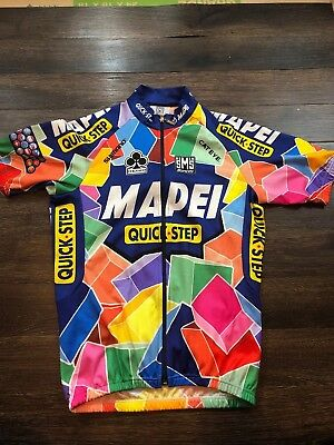 Santini SMS Mapel Quick-Step Short Sleeve Cycling Jersey Large COLLAR WEAR e4d617c7a