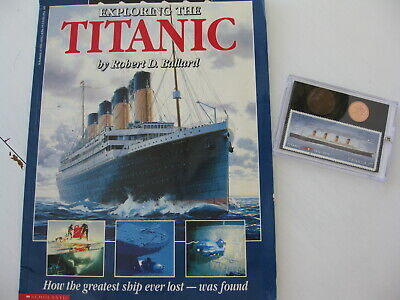 Exploring the TITANIC Book &  Stamp & Coin Set, 1912 Canada Large Penny
