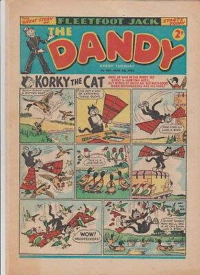 DANDY  COMIC  No.641...MARCH  6th  1954...10  1950's  DANDY  comics  on  today