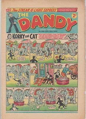 DANDY  COMIC  No.634....JAN  16th  1954...8  1950's  DANDY  comics  on  today