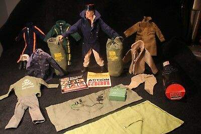 Vintage Original Action Man PLUS 13 LOTS Sets/Papers/Boots/Helmets/Radio+more #C
