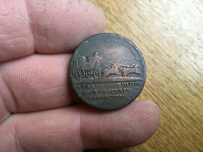 Late 18th Century Stagecoach Halfpenny Token
