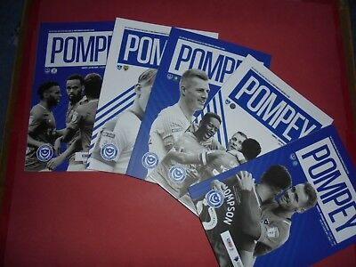 2018/19 Porstmouth Home Programmes Choose From